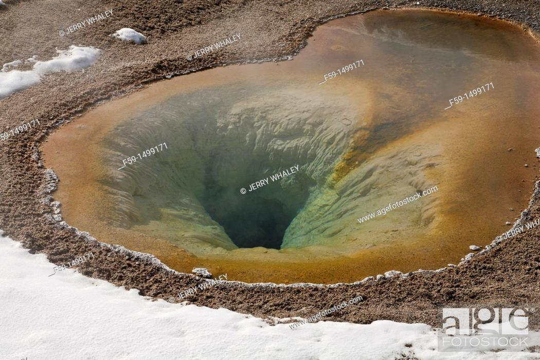 Stock Photo: Hot Spring, Winter, Upper Geyser Basin, Yellowstone NP, WY.