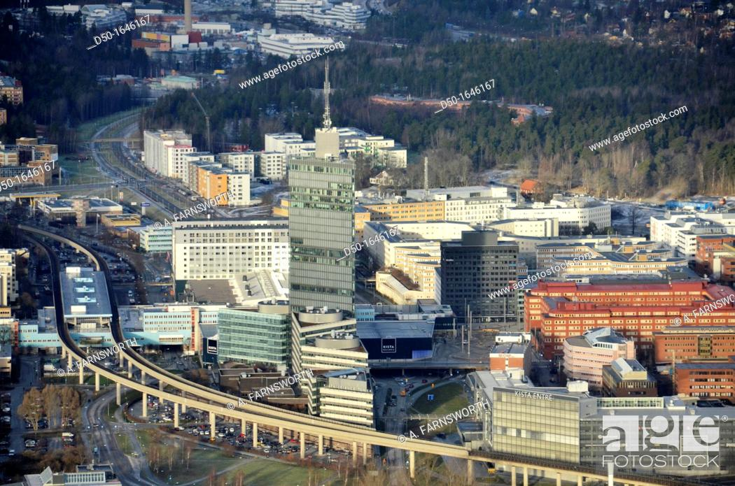 Stock Photo: Kista suburb i known as the Silicon Valley of Sweden, Stockholm, Sweden.