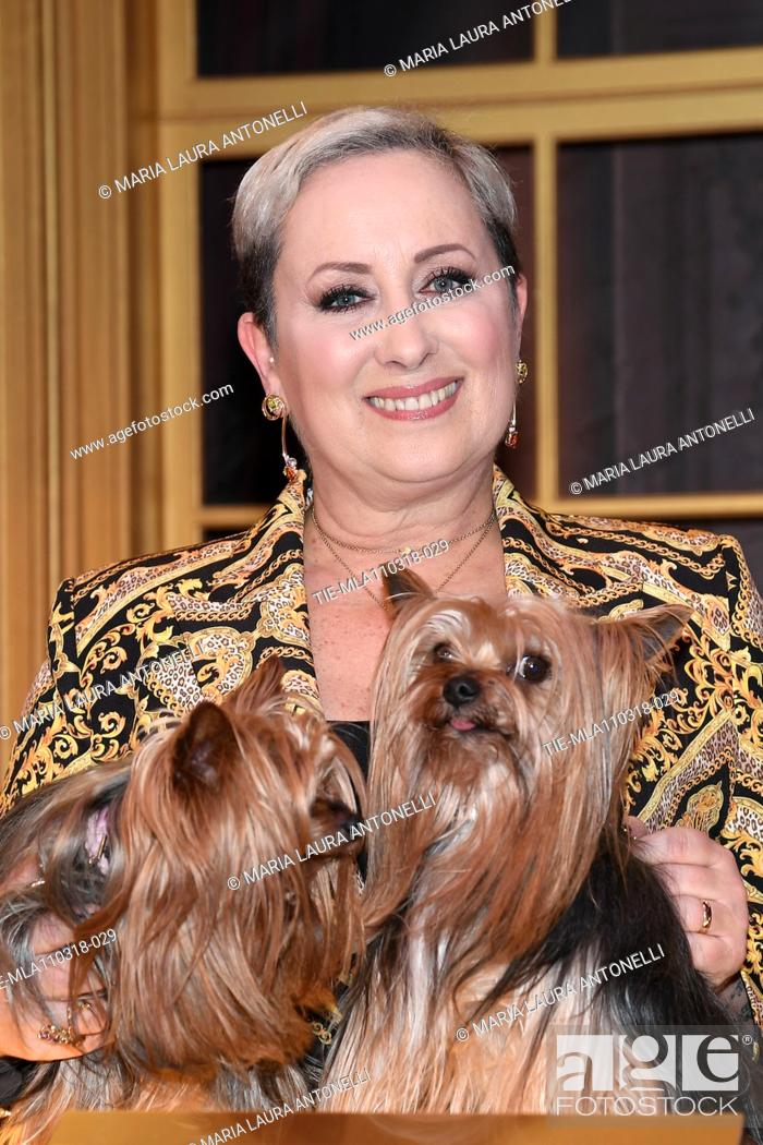 Member Of Jury Carolyn Smith With Her Dogs During The Talent Show