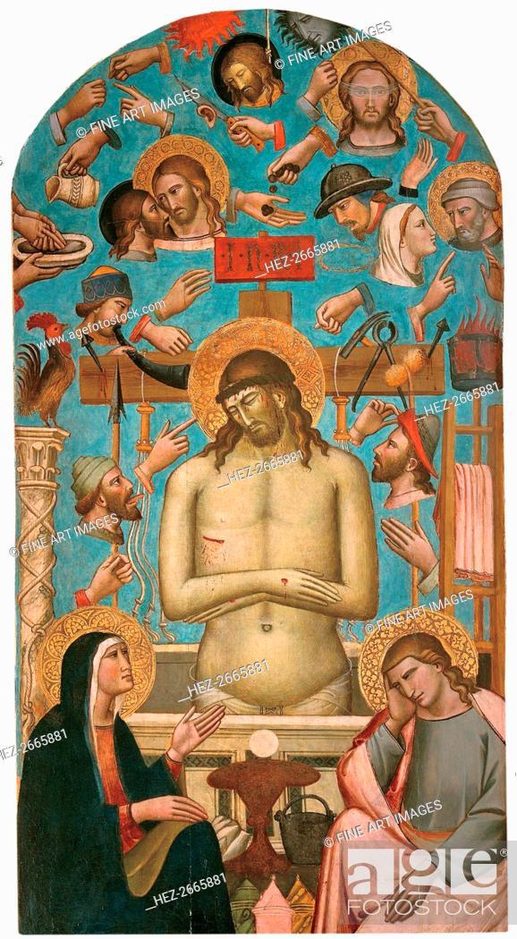Stock Photo: Pieta with the Symbols of the Passion, 1401-1403.