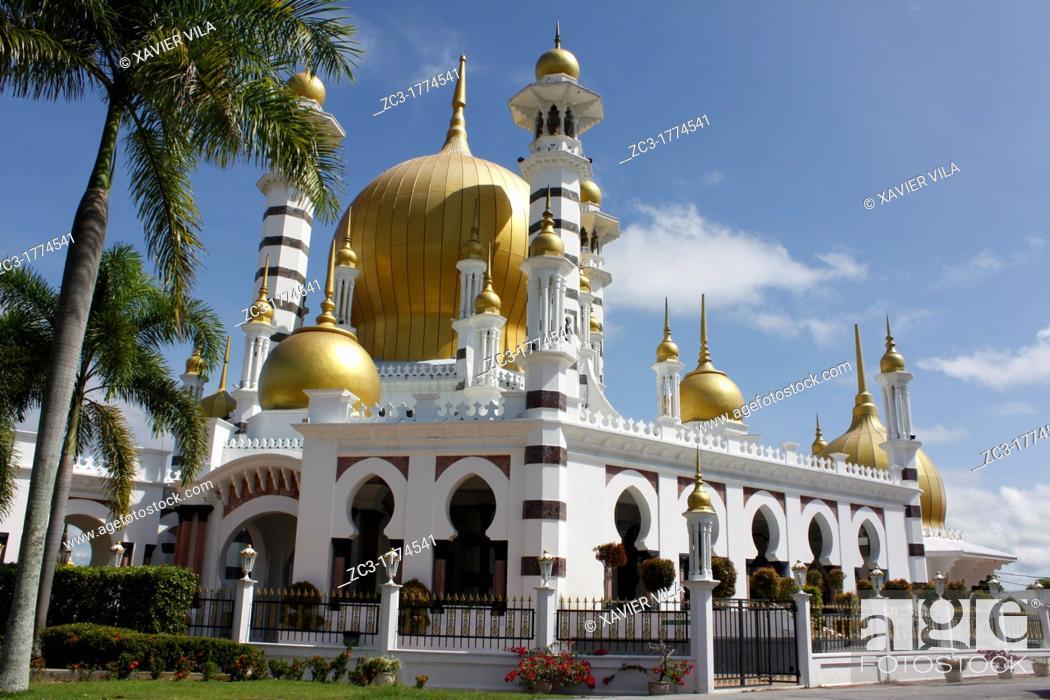 Stock Photo: Great mosque in Kuala Kangsar, Malaysia.