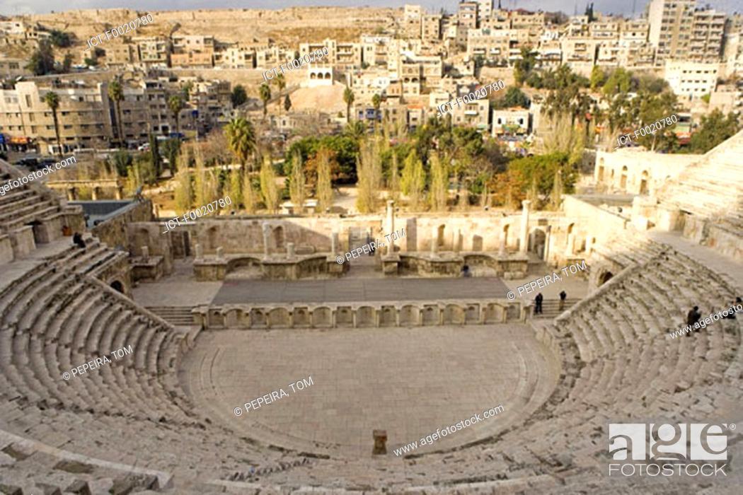 Stock Photo: Jordan, Amman, Roman theater built by emperor Marc-Aurele.