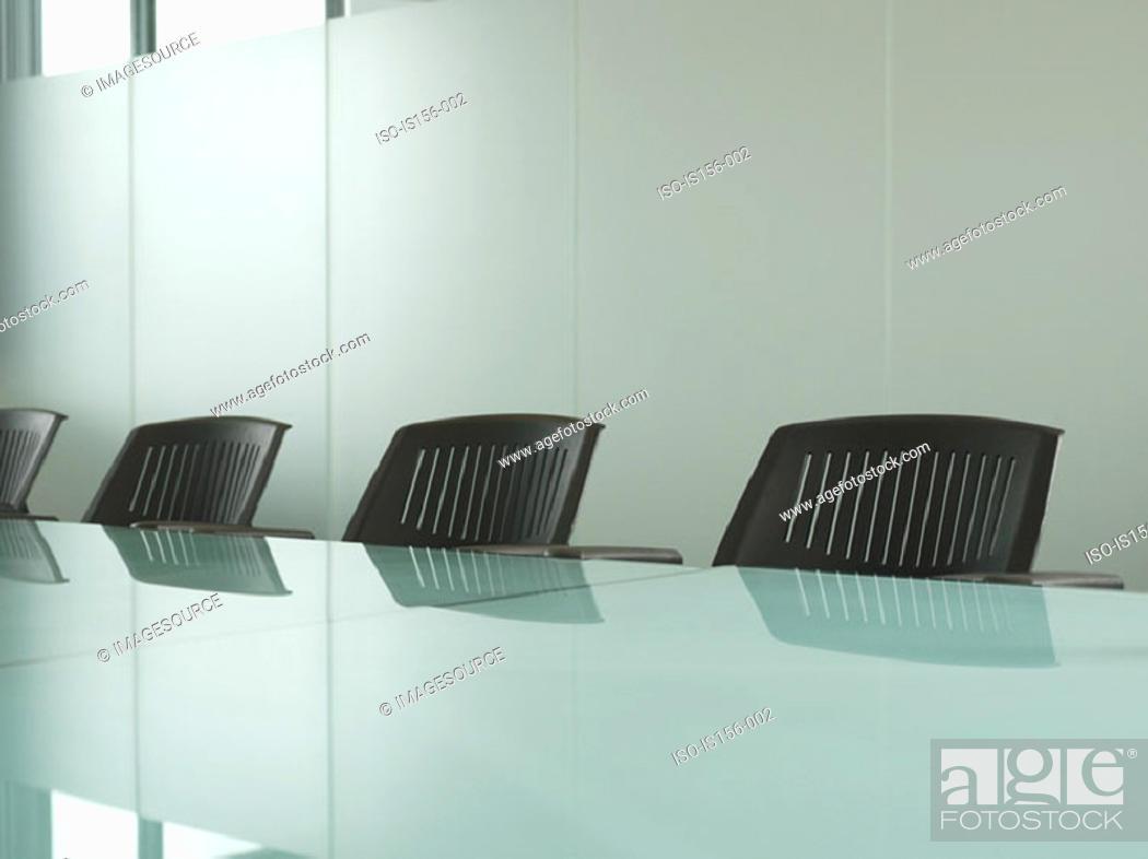 Stock Photo: Empty meeting room.