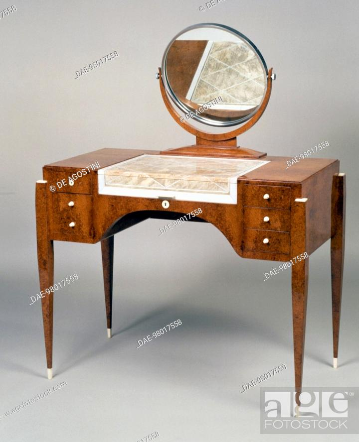 Stock Photo Art Deco Style Dressing Table Variation On The Hotel Du Collectionneur Model