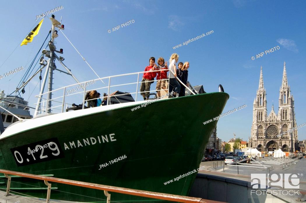 Stock Photo: IJslandvaarder Amandine, Ostend, Brugse Ommeland, Flanders, Belgium, Europe.