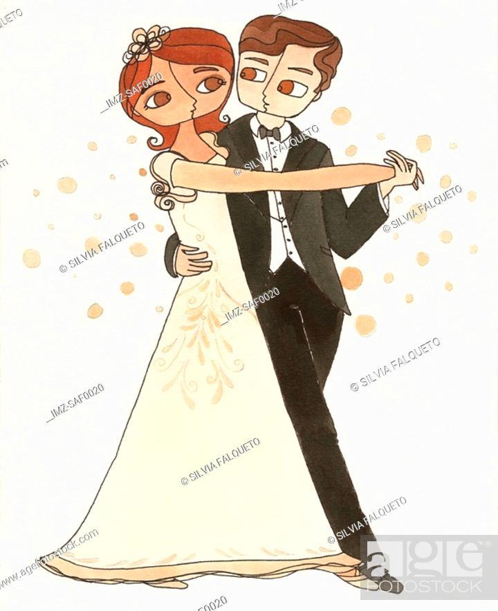 Stock Photo: A couple ballroom dancing.