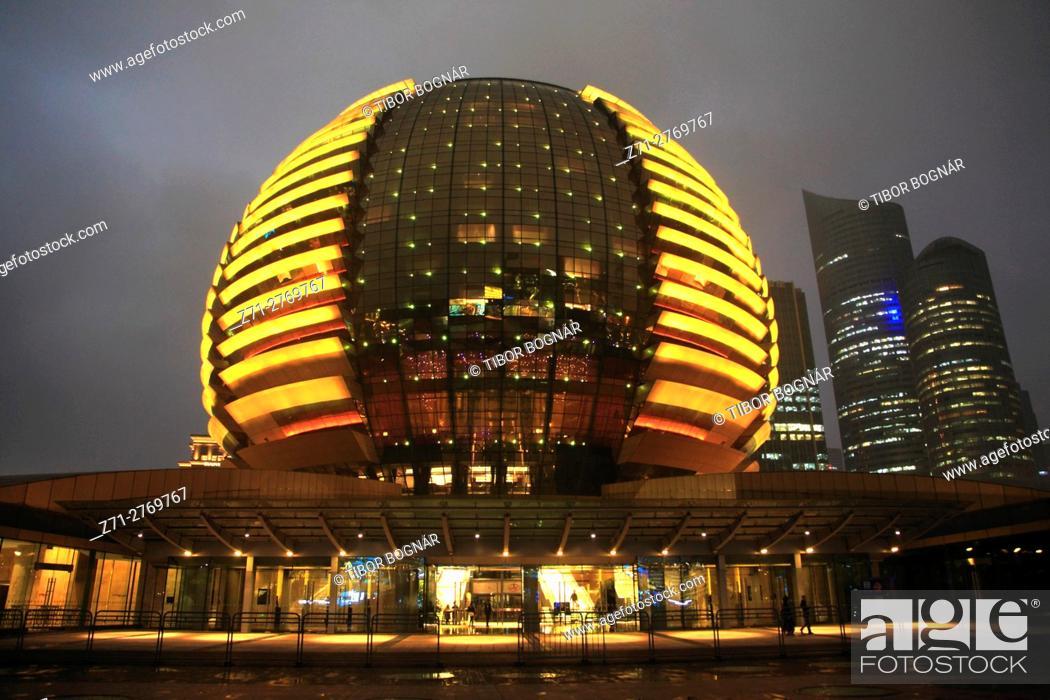 Stock Photo: China, Zhejiang, Hangzhou, International Conference Center,.