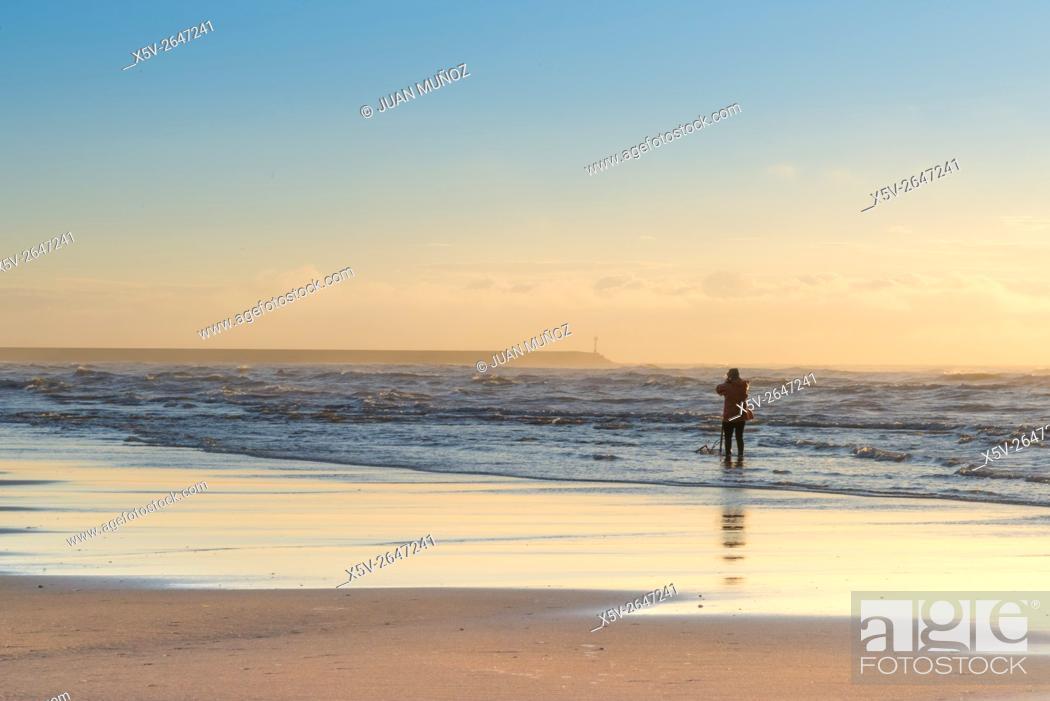 Stock Photo: Beach Punta del Moral. Ayamonte. Huelva. Spain.