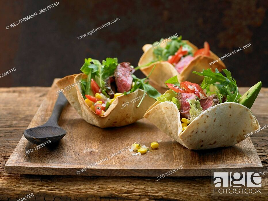 Stock Photo: No People, America, Indoors, Interior, Inside, Food, Meat, Mexico, Central America, Dish, Cuisine, Vegetables, Prepared, Nutrition, Photo, Make, Step, Cooking, Cereals, Grain, Corn, Maize, Bowl, Salad, Spicy, International, Being, Ready, Shot, Edible