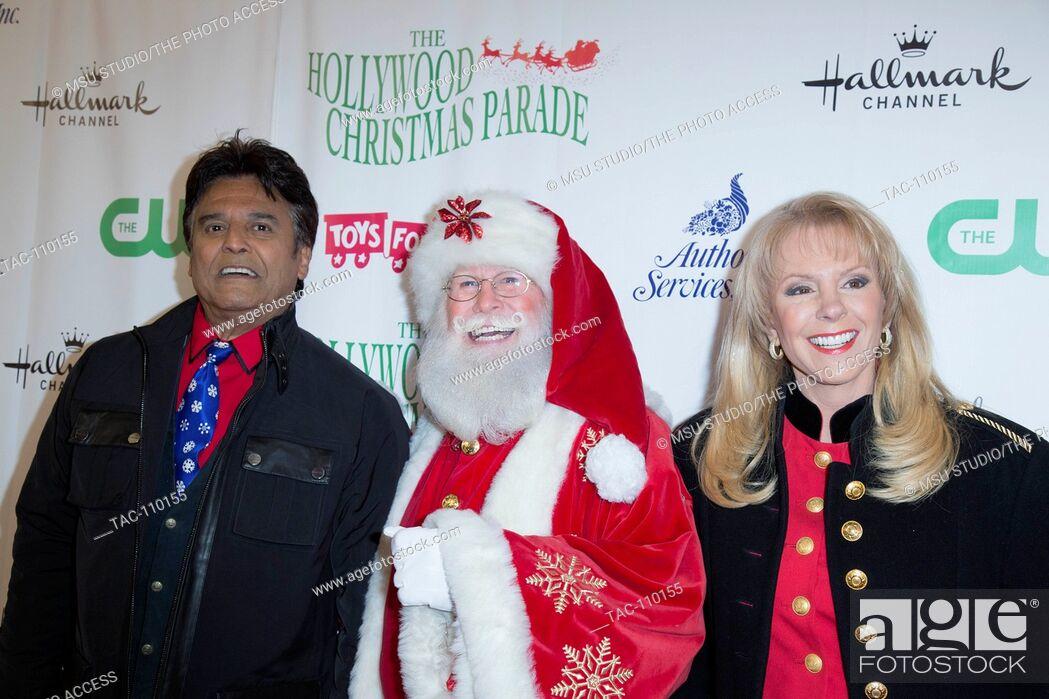 The Christmas Parade Hallmark.Erik Strada Santa Claus And Laura Mckenzie Attend The 84th