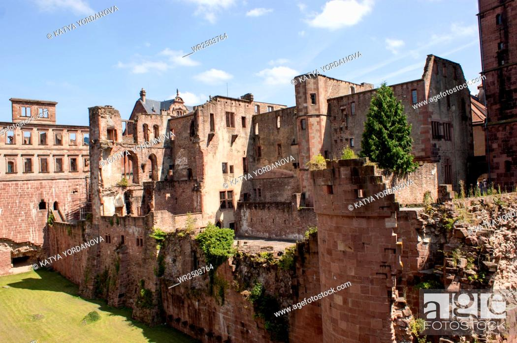Stock Photo: Heidelberg castle.