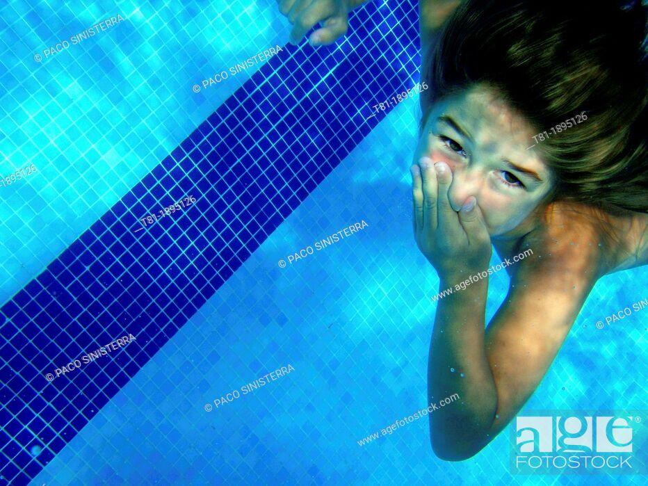 Stock Photo: Girl underwater.