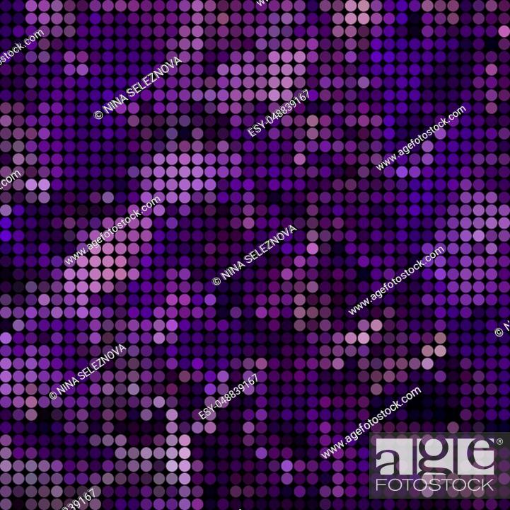 Stock Photo: abstract colored round dots background - purple and violet.