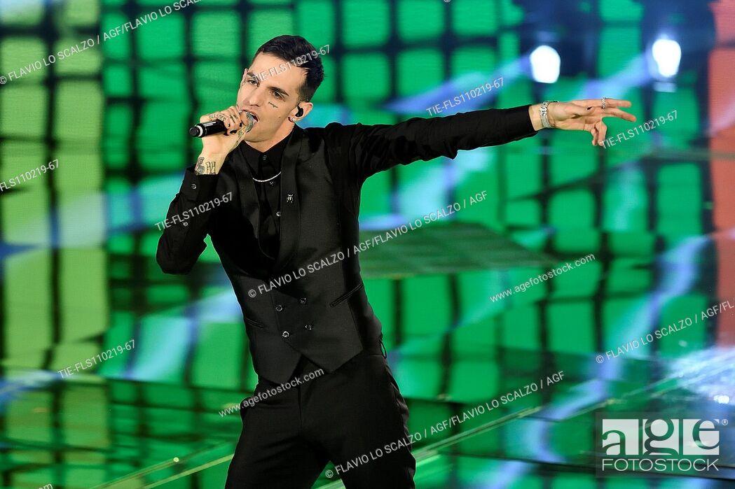 Imagen: Singer Achille Lauro during the tv show Che tempo che fa, Milan, ITALY-10-02-2019.