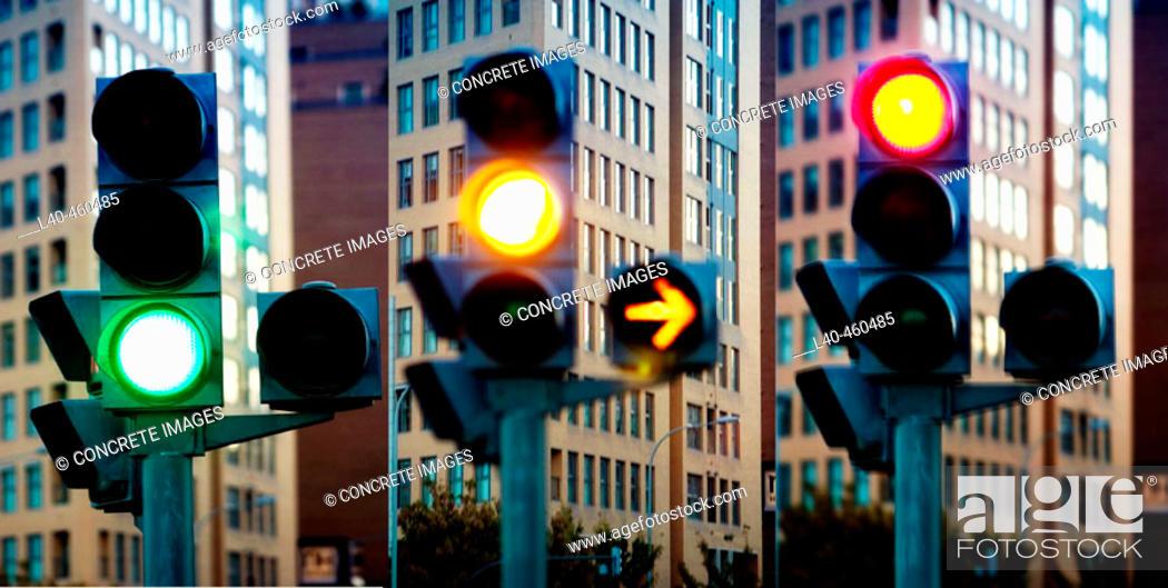 Stock Photo: Traffic light.