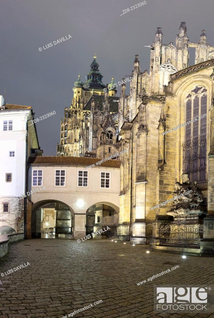 Stock Photo: st. vitus cathedral.