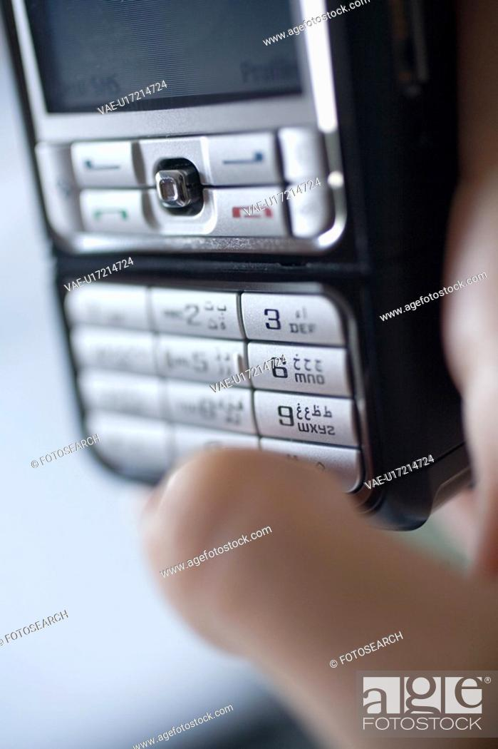 Stock Photo: buttons, business, phone, mobile, keyboard, Arabic.