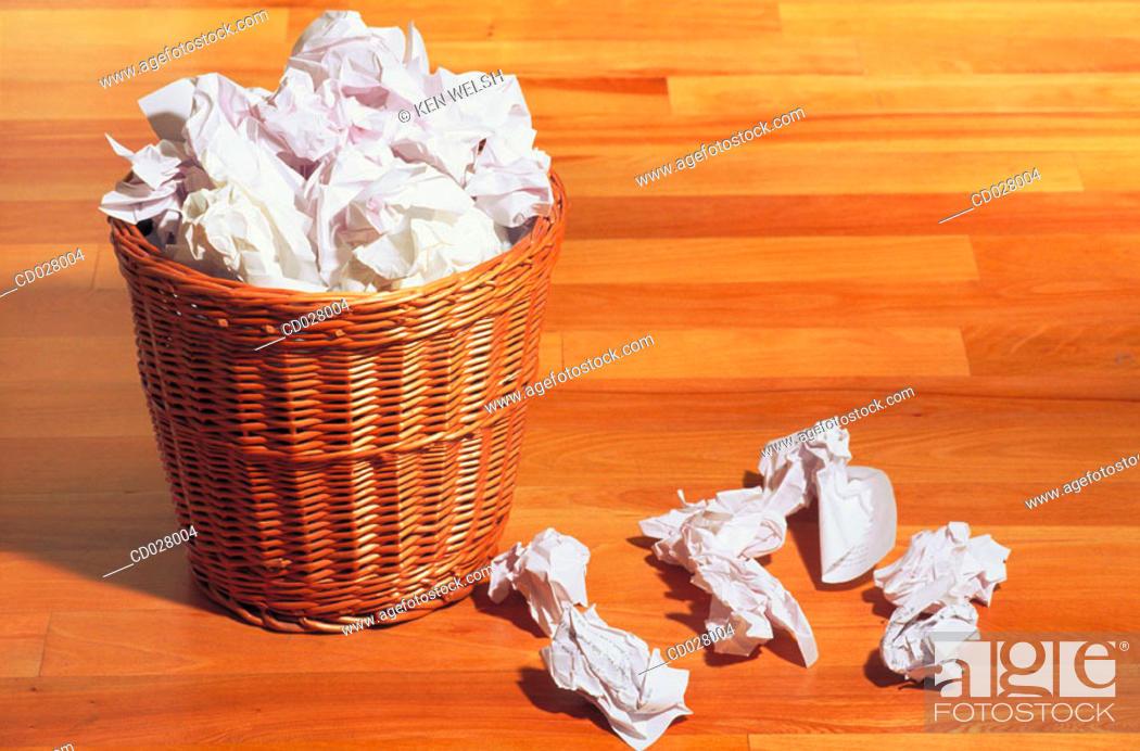 Stock Photo: Wastebasket.