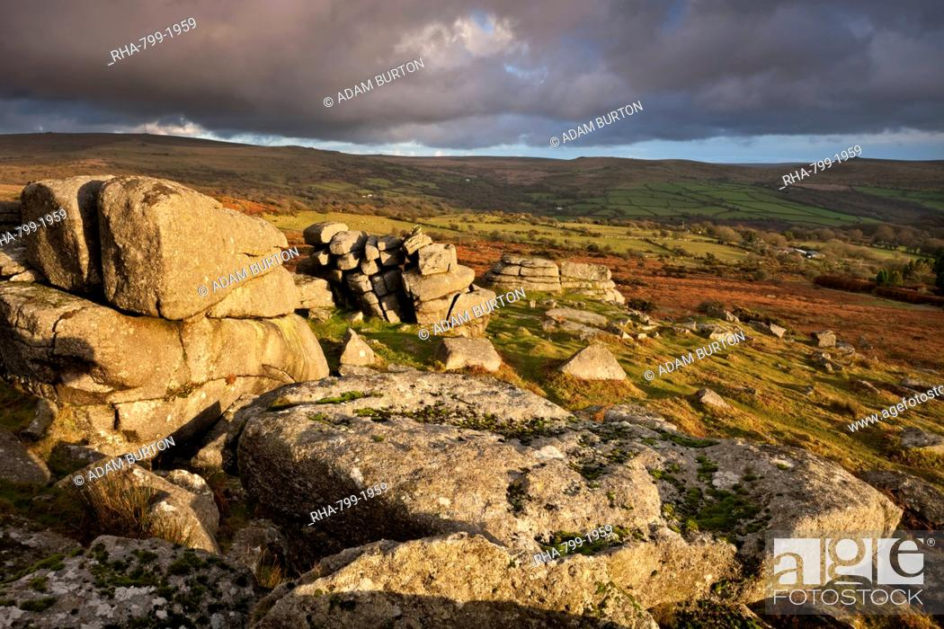 Stock Photo: Pew Tor in Dartmoor National Park, Devon, England, United Kingdom, Europe.