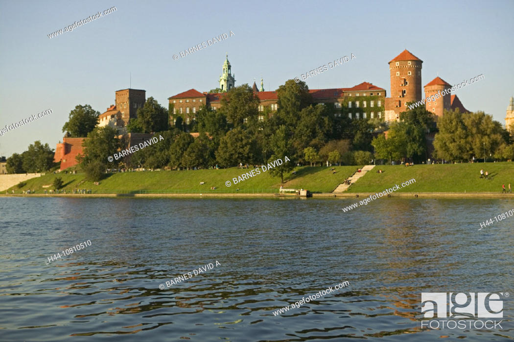 Stock Photo: castle, cathedral, Cracow, mountain, Poland, Europe, river, Vistula, Wawel,.