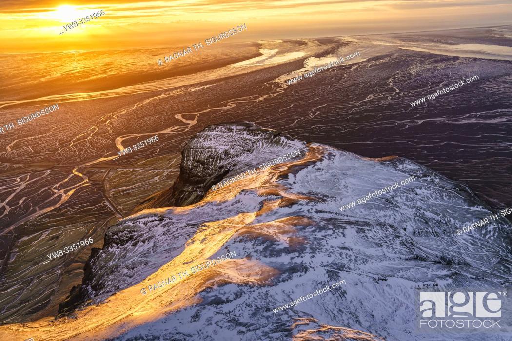 Stock Photo: Mt. Lomagnupur, Vatnajokull National Park, Iceland. Unesco World Heritage Site.