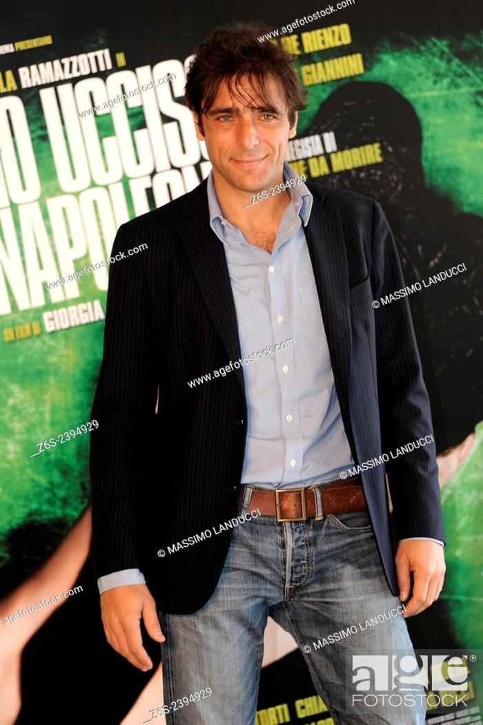 Stock Photo: adriano giannini; giannini; actor; celebrities; 2015;rome; italy;event; photocall; ho ucciso napoleone.