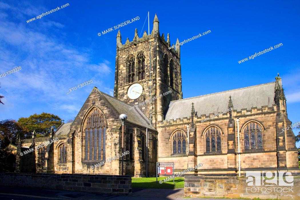 Stock Photo: All Saints Church Northallerton North Yorkshire England.