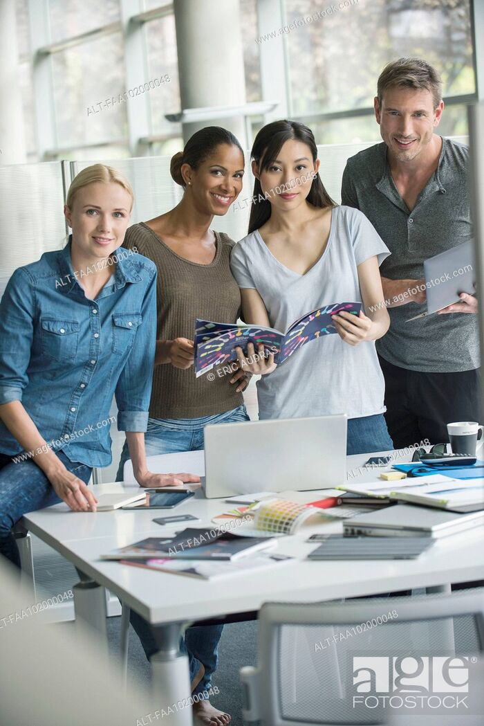 Stock Photo: Group projects build employee morale.
