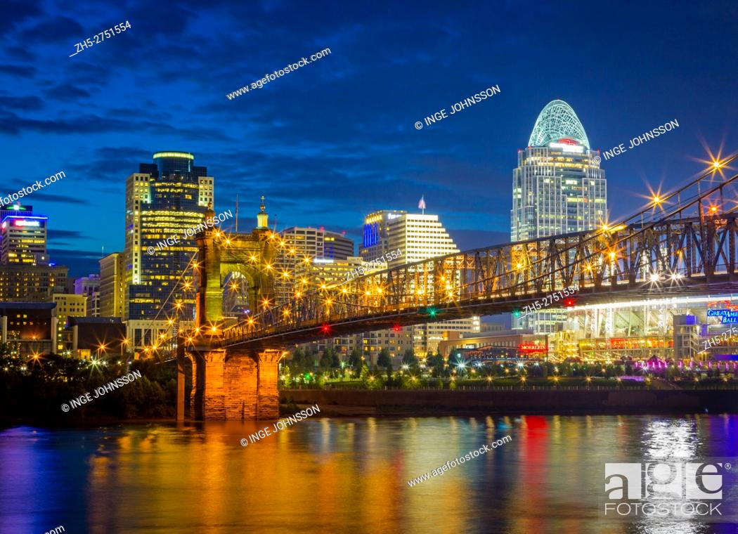Stock Photo: Cincinnati is the third largest city in Ohio and the 28th largest city in the United States by metropolitan population and the county seat of Hamilton County.