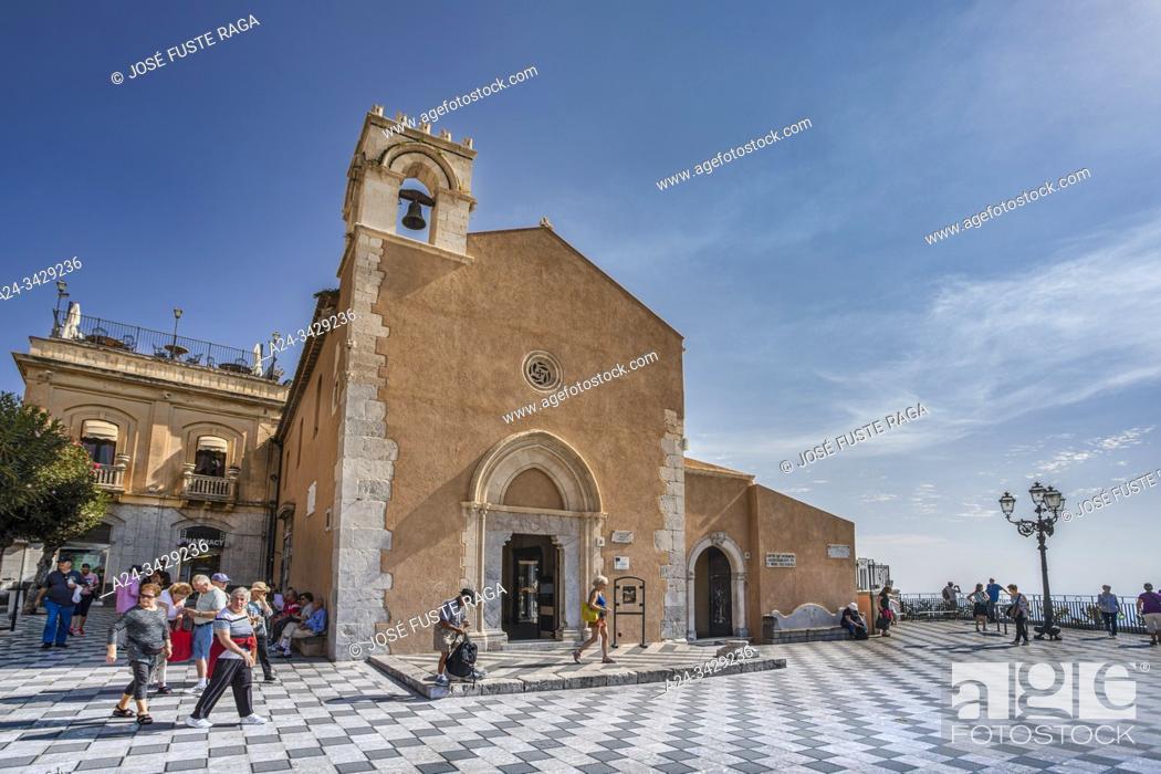 Imagen: Italy, Sicily Island, Taormina City, Sant Agostino Church.