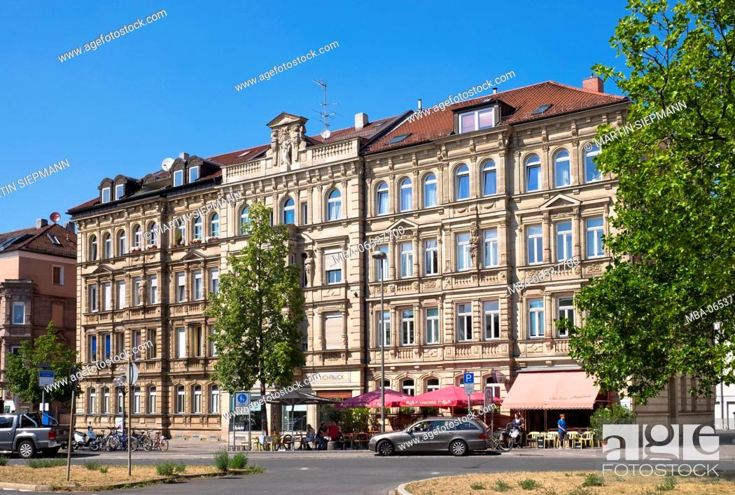 Stock Photo: House facades of the new Renaissance about 1895, Fürther Straße 64, district Gostenhof, Nuremberg, Central Franconia, Franconia, Bavaria, Germany.