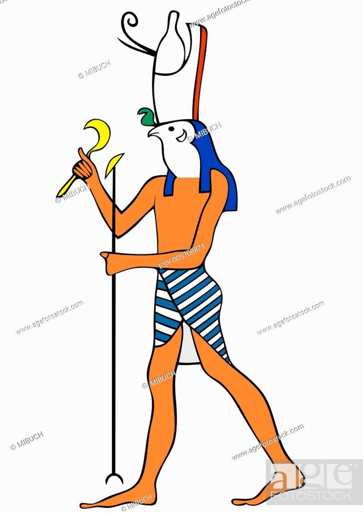 Vector: God of Ancient Egypt - Horus - vector.