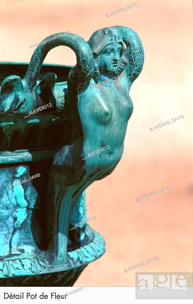 Stock Photo: Palace of Versailles - Detail Pot de Fleur.