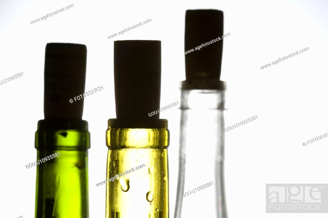 Stock Photo: Bottle and cork.