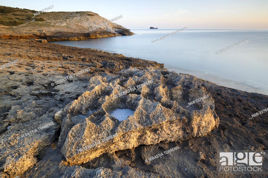 Stock Photo: Rocks at the coast of Artà, Majorca, Spain.