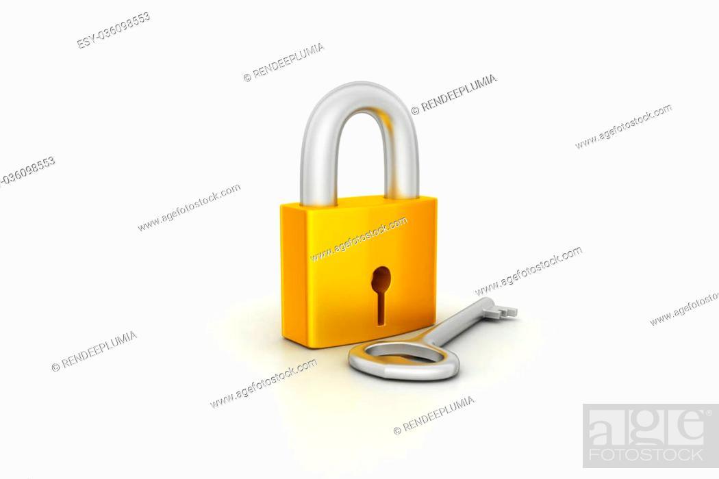 Photo de stock: Key and padlock.