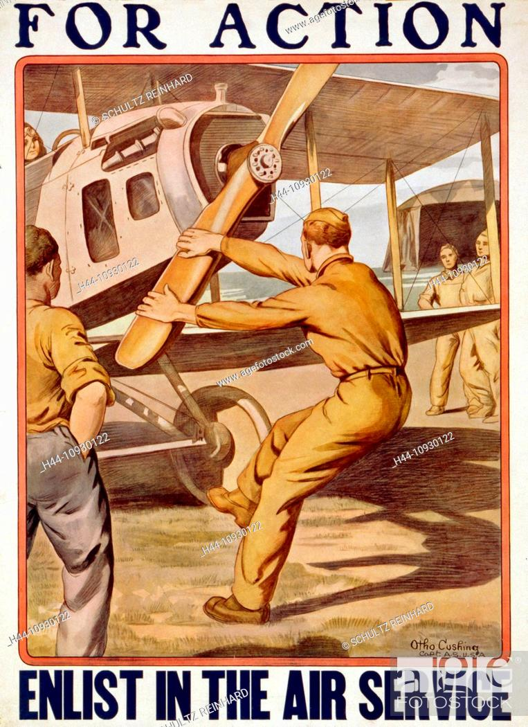 world war i us army air service recruiting poster man