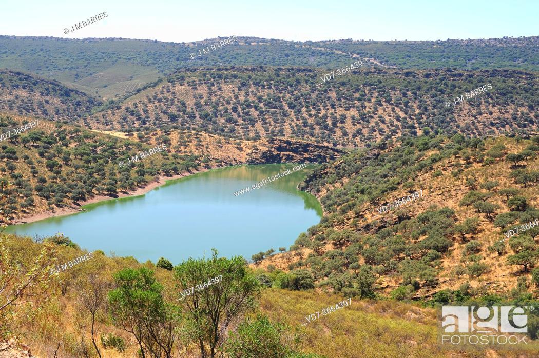 Stock Photo: Monfrague National Park, Tajo River. Caceres province, Extremadura, Spain.