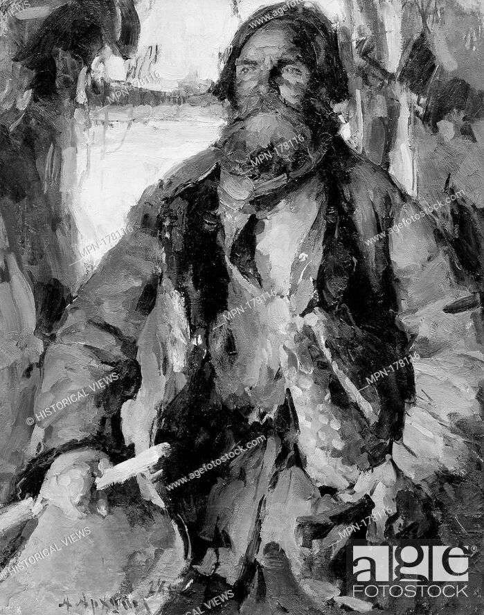 Stock Photo: Ivan Rodin. Artist: Abram Efimovich Arkhipov (Russian, Egorovo Riazan province 1862-1930 Moscow); Date: 1928; Medium: Oil on canvas; Dimensions: 44 x 34 1/4 in.