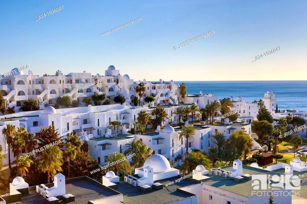 Stock Photo: Spain , Andalucia Region , Almeria Province, Near Mojacar City , Mediterranean Coast.