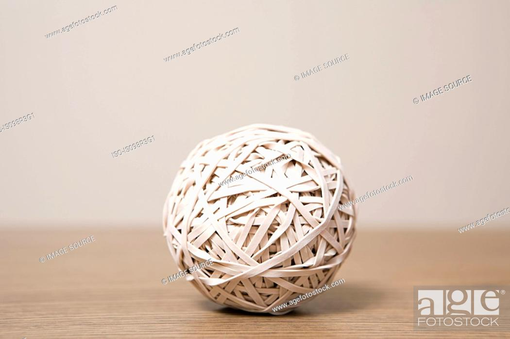 Stock Photo: Rubber band ball.