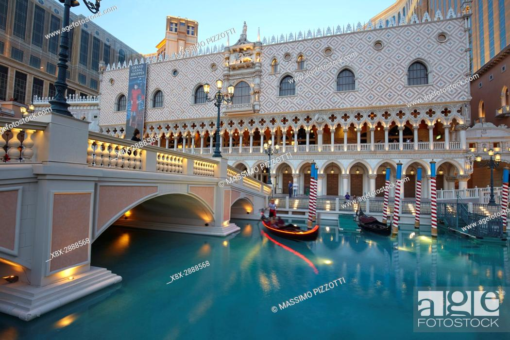 Stock Photo: The Venetian hotel in Las Vegas, Nevada, United States.