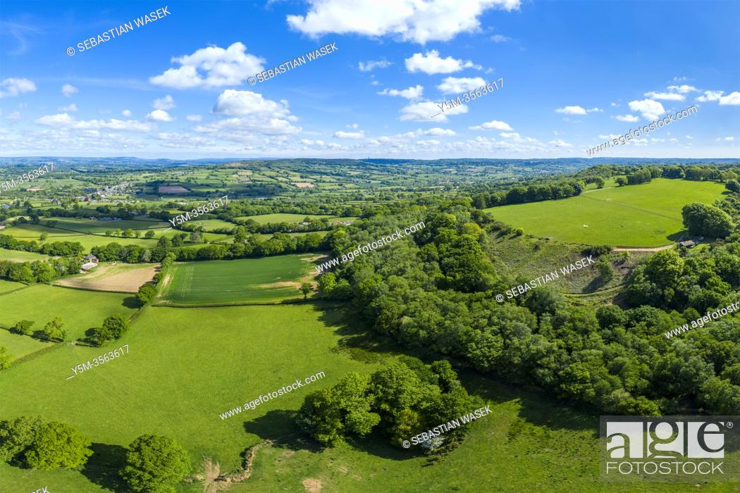 Stock Photo: Blackdown Hills, Areas of Outstanding Natural Beauty near Craddock, Devon, England, United Kingdom, Europe.