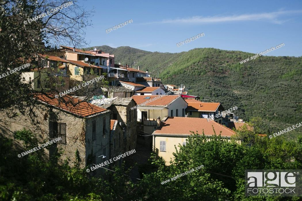 Stock Photo: Valloria, Liguria, Italy.