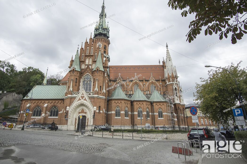 Stock Photo: KRAKOW POLAND ON SEPTEMBER 25, 2018: Saint Joseph church in Krakow Poland.