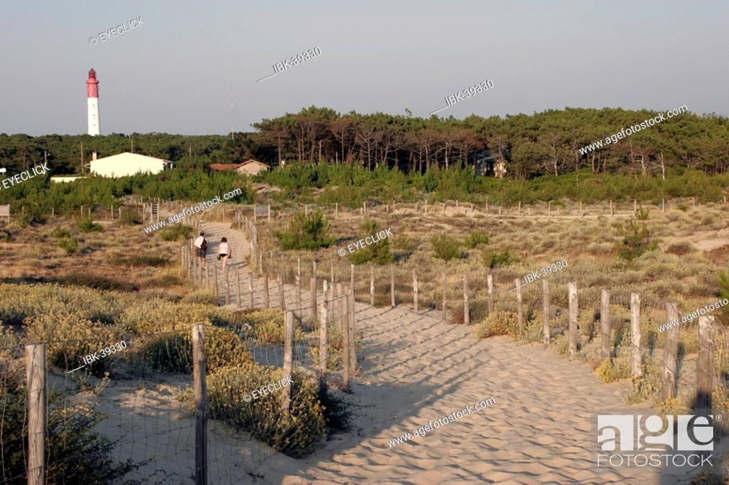 Stock Photo: Path to the dune of Pyla France.
