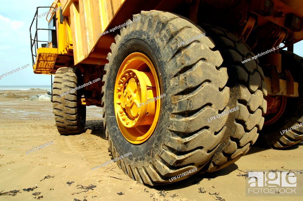 Stock Photo: Heavy duty rigid dumper truck.