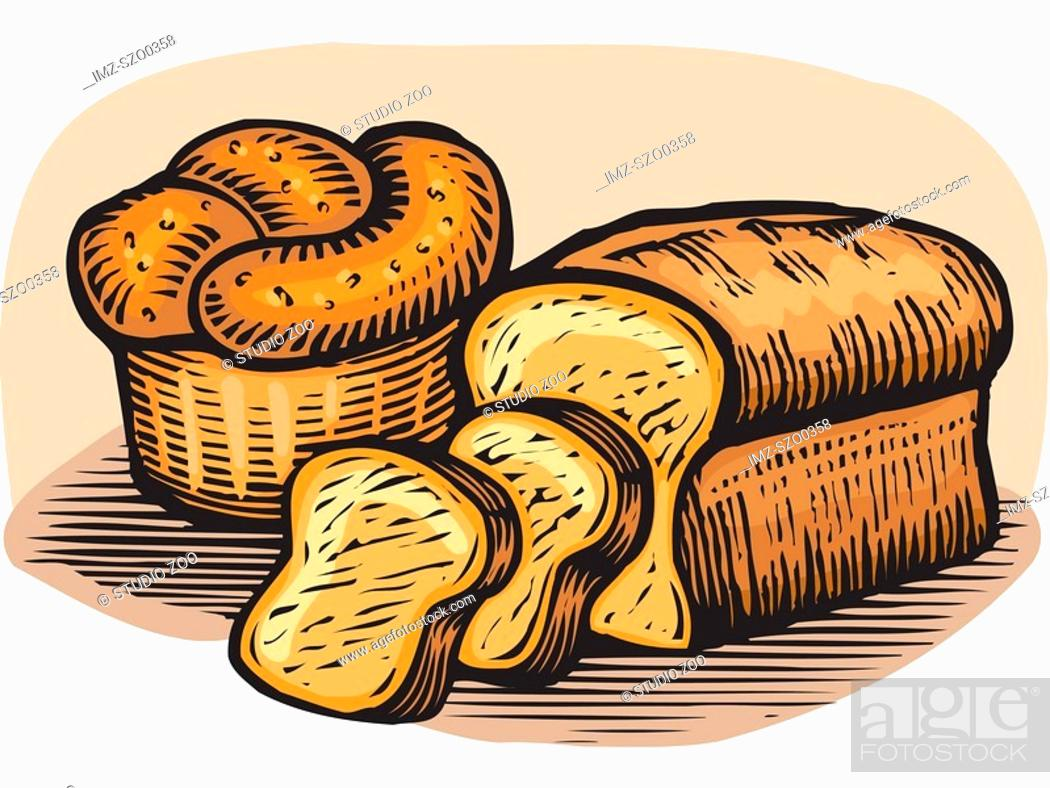 Stock Photo: A drawing of loaves of bread.
