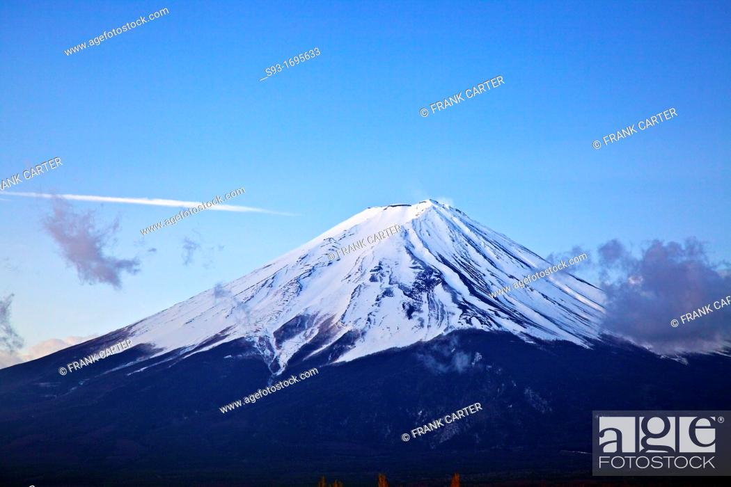 Stock Photo: A view of Mt  Fuji at sunrise.