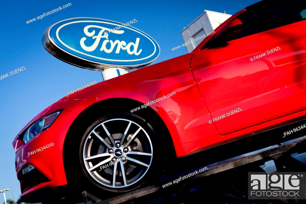San Diego Ford Dealers >> Red Ford Mustang At Kearny Pearson Ford Car Dealer In Kearny